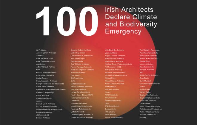 Architects Declare Ireland Reaches 100 Practice Signatories