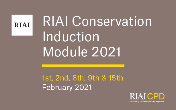 RIAI Conservation Induction Module 2021 - BOOKED OUT