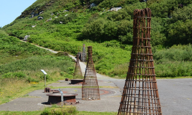 Gathering sculpture installation by Noel Brady at Fort Dunree
