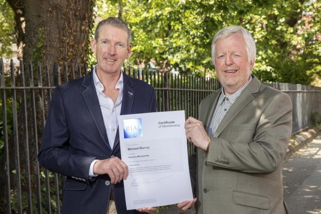 The RIAI Awards an Honorary Membership to Michael Murray