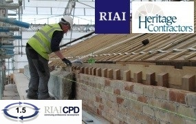 Pre-recorded Online: Joint RIAI & Heritage Contractors Register 'Meet the Craftsman' lecture by Oldstone Conservation
