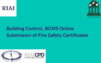 Building Control, BCMS Online Submission of Fire Safety Certificates