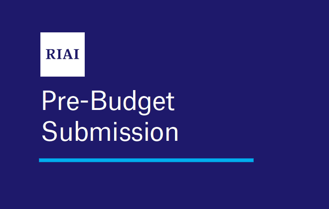 RIAI Pre-Budget Submission 2021