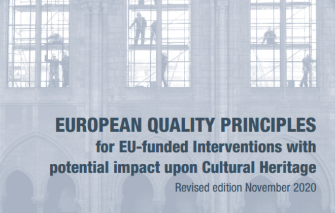 ICOMOS Publishes Update of its Quality Principles for EU-funded Interventions with Potential Impact on Cultural Heritage