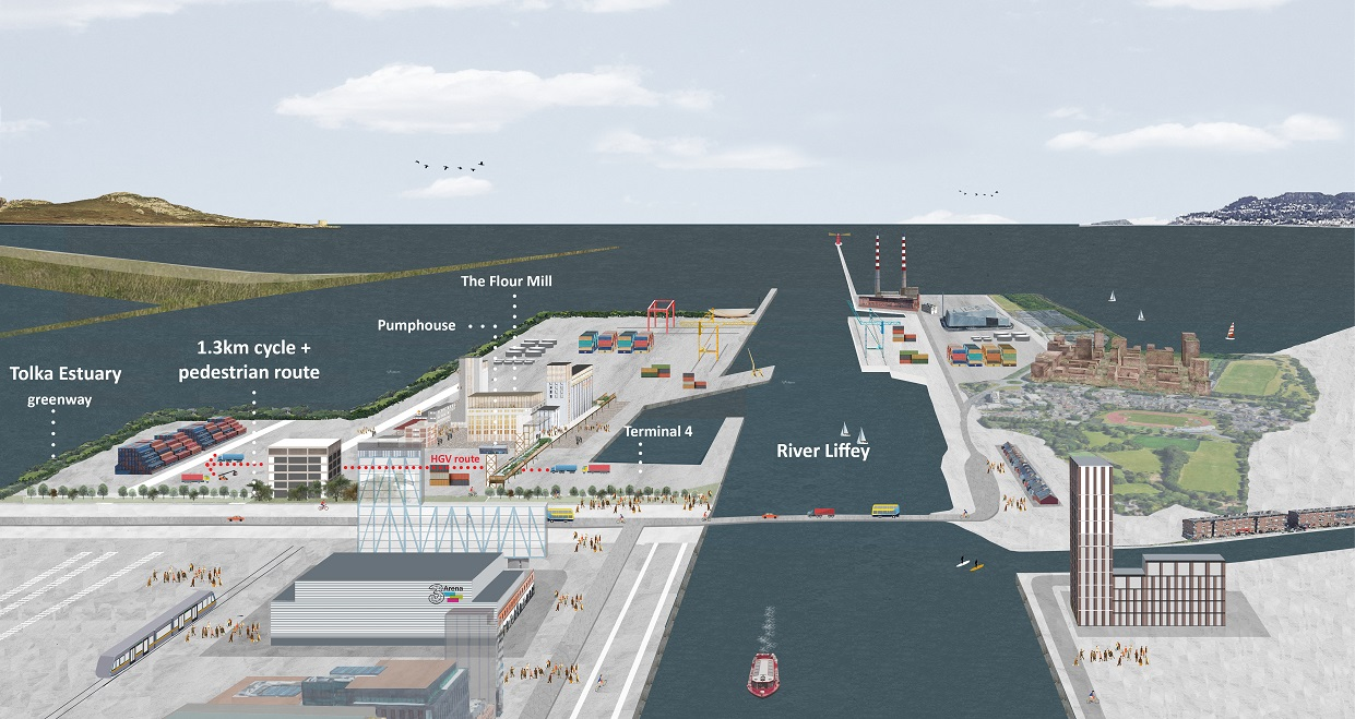 Dublin Port Company appoints Grafton Architects to create new cycle and pedestrian route to join the River Liffey to the Tolka Estuary